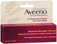 Aveeno Active Naturals 1% Hydrocortisone Anti-Itch Cream Maximum Strength Formula -  1 oz