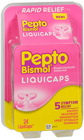 Pepto Diarrhea Antidiarrheal Liquicaps - 24 ct
