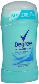 Degree Dry Protection Invisible Solid Anti-Perspirant Deodorant Shower Clean - 1.6 oz