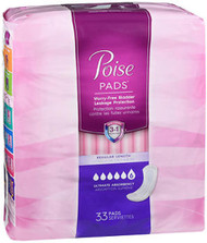 Poise Pads Ultimate Absorbency Regular Length - 4 packs of 33