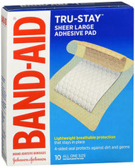 """Band-Aid Adhesive Pads All One Size - 2 7/8"""", 10 ct"""