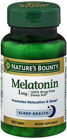 Nature's Bounty Melatonin 1Mg Tablets - 180 Tablets