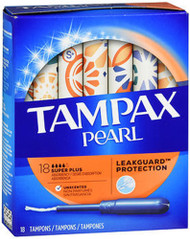 Tampax Pearl Tampons, Plastic Applicator, Super Plus Absorbency, Unscented - 18 ea.