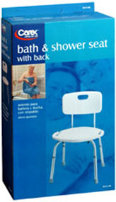 Carex Bath & Shower Seat, with back