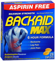 Backaid Max Backache Relief Tablets - 28 ct