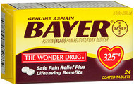 Bayer Aspirin 325 mg - 24 Coated Tablets