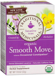 Traditional Medicinals Laxative Herbal Tea, Organic Smooth Move - 16 ct