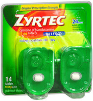 Zyrtec Allergy 10 mg Tablets Blister Pack - 14 ct