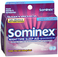 Sominex Nighttime Sleep-Aid Tablets Original Formula - 72 ct