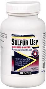 Humco Sulfur USP Sublimed Powder - 4 oz