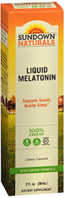 Sundown Naturals Melatonin, Fast Acting, Liquid Cherry - 2 oz