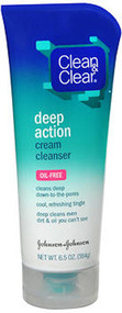 Clean & Clear Deep Action Cream Cleanser, Oil-Free - 6.5 oz