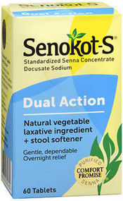Senokot-S Natural Laxative plus Stool Softener - 60 ct