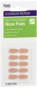 Flents Nose Pads Self-Stick Foam Pads Peach - 10 ct