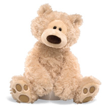 •Plush •12 in H  •Beige plush teddy bear featuring paw pad accents on feet •Soft, huggable plush built to famous GUND quality standards •Surface-washable •Ages 1+ •12 inch height (30.5 cm)