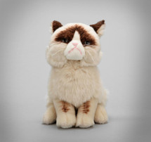 "Now you can show off your love for the internet's favorite kitty curmudgeon by bringing home your very own Grumpy Cat! Our 9"" plush version features an accurate grouchy expression, as well as realistic details. Plush 9 in H Realistic plush replica of Grumpy Cat with accurate grouchy expression and details Made from soft, huggable material that meets famous GUND quality standards Surface-washable construction for easy cleaning Suitable for ages 1+ 9 inch height (23 cm)"