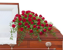 Simply Roses Deluxe Casket Spray
