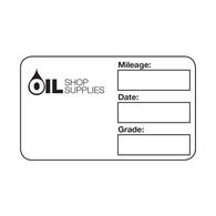 Handwritten Service Reminder Labels – Custom One Color Logo – Black