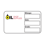 Handwritten Service Reminder Labels – Custom Multi-Color Logo