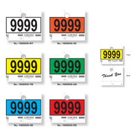 Key Tag and Window Stock Border Color Sticker