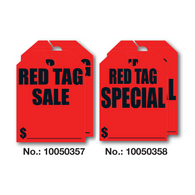 Red Tag Mirror Hang Tags