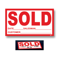 Sold Window Sticker