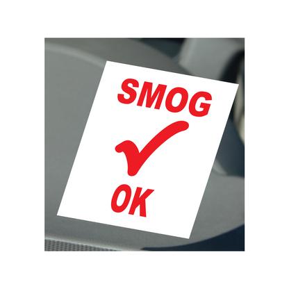 Smog Check OK Static Cling Stickers