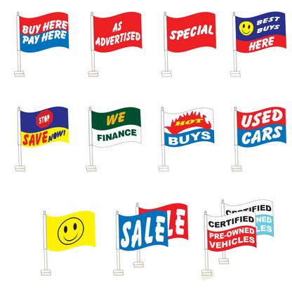Premium Clip-On Flags