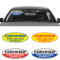 Certified Pre-Owned Vehicle Stickers