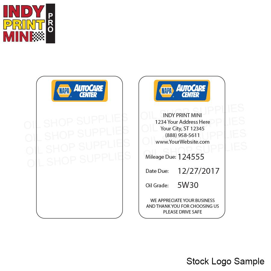 Indy Print Mini Stock Logo F3 Napa Oil Shop Supplies