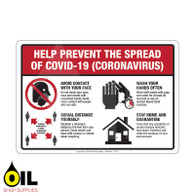 Help Prevent the Spread of COVID-19 (Coronavirus) - Horizontal Safety Sign