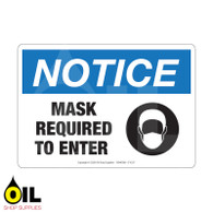 Mask Required - NOTICE - Horizontal Safety Sign