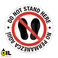 Do Not Stand Here - Eng/Spa - Floor Safety Sign