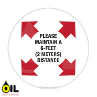 Please Maintain a 6-Feet Distance - Floor Safety Sign