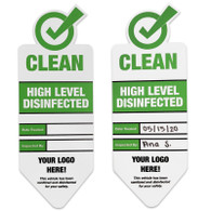 "3.5"" x 9.5"" High Level Disinfected label"