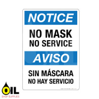 No Mask No Service Eng/Spa - Vertical