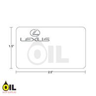 INDY Print 2 Lexus Labels