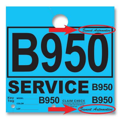 Custom Service Department Hang Tags