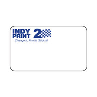 INDY Print 2 – Custom One Color Logo – Blue