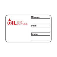 Handwritten Service Reminder Labels – Custom One Color Logo – Red