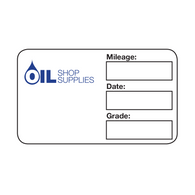 Handwritten Service Reminder Labels – Custom One Color Logo – Blue