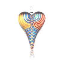 Multi-colour Glass Heart Pendant Necklace