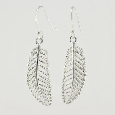 Sterling Silver Palm Leaf Earrings