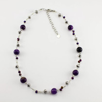 Purple Agate Stone Necklace