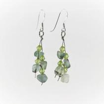 Fluorite Gemstone Drop Earrings