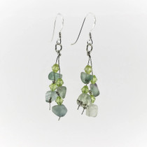 Fluorite Gemstone Drop Earrings