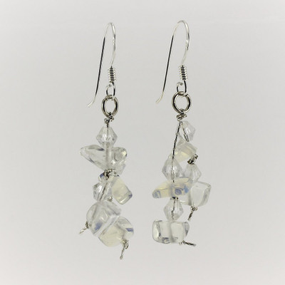 Moonstone Gemstone Drop Earrings