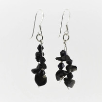 Black Onyx Gemstone Drop Earrings