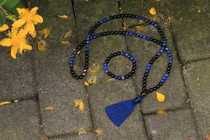 Black Onyx, Lapis & Communication Mala & Bracelet