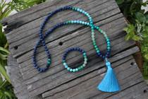 Lapis Mala & Bracelet